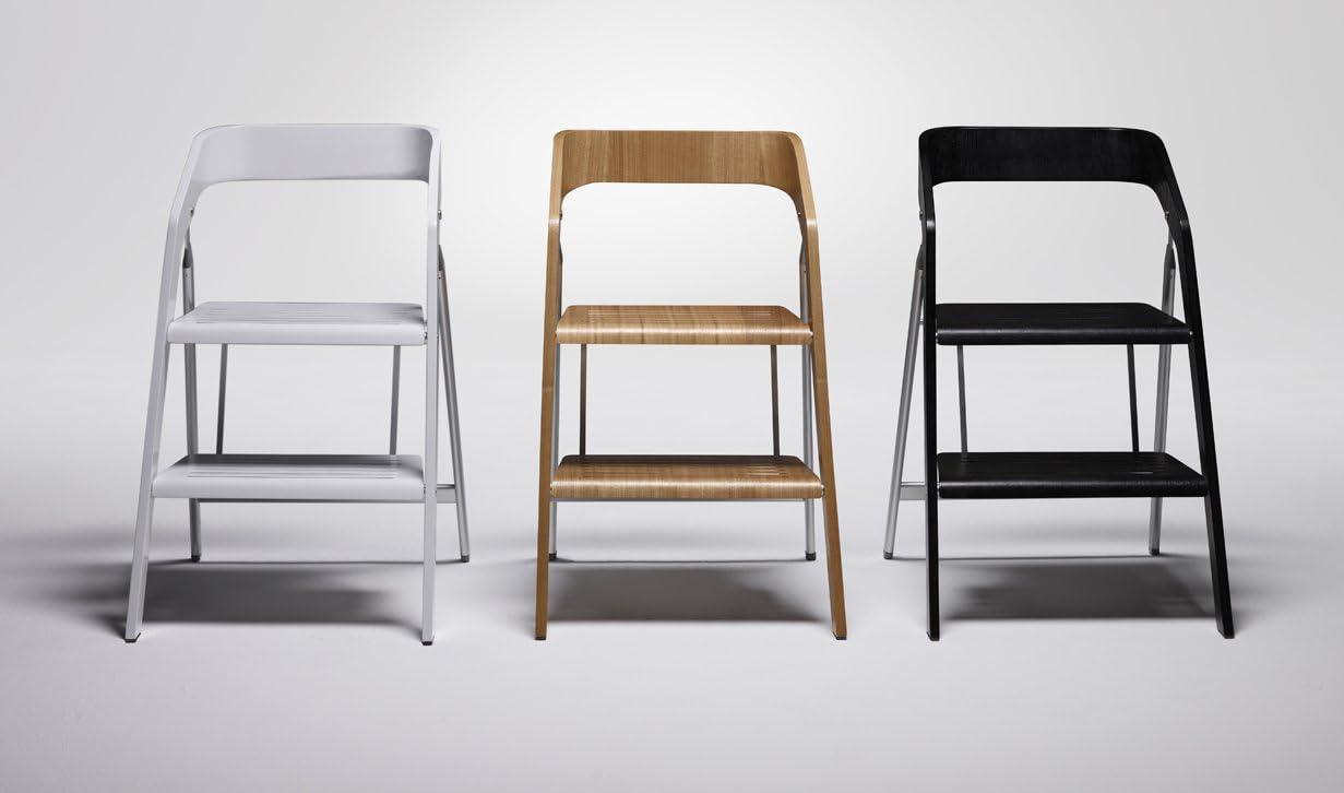 salisiedi Taburete madera silla blanco-Escalera 3 peldaños de escalera- Escalera: Amazon.es: Bricolaje y herramientas