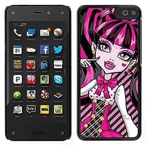 EJOY---Cubierta de la caja de protección para la piel dura ** Amazon Fire Phone ** --Lindo rosado atractivo de los labios de la muchacha