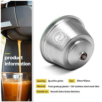 i Cafilas Filtro colador de cápsulas de café rellenable para ...