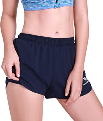 CAMEL CROWN Womens 2 in 1 Running Shorts Quick Dry Gym Shorts Lightweight Double Layers Athletic Shorts for Workout Fitness Jogger