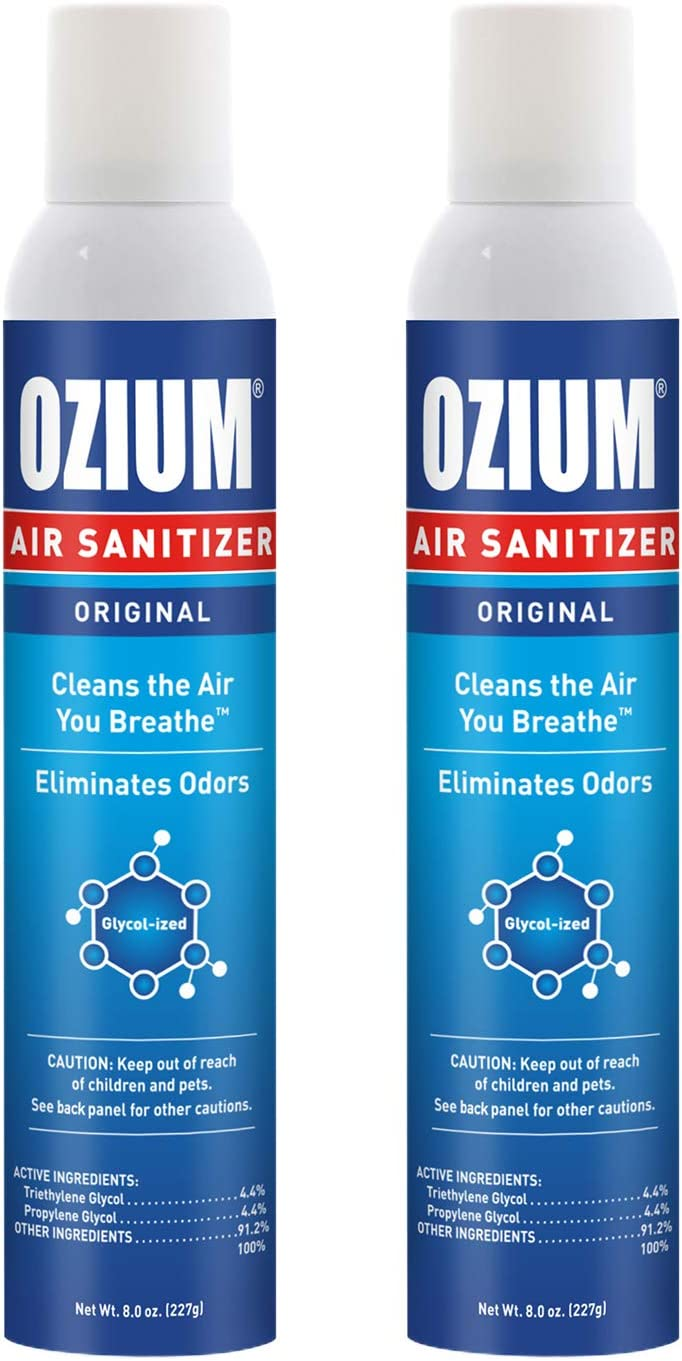 Ozium 8 Oz. Air Sanitizer & Odor Eliminator for Homes, Cars, Offices and More, Original Scent - 2 Pack