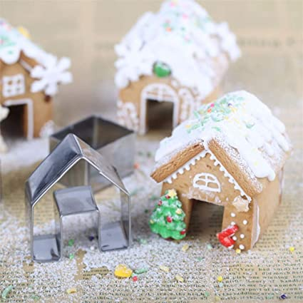 Amazon Com 3pcs Set Christmas Mini House Cookie Baking Tools
