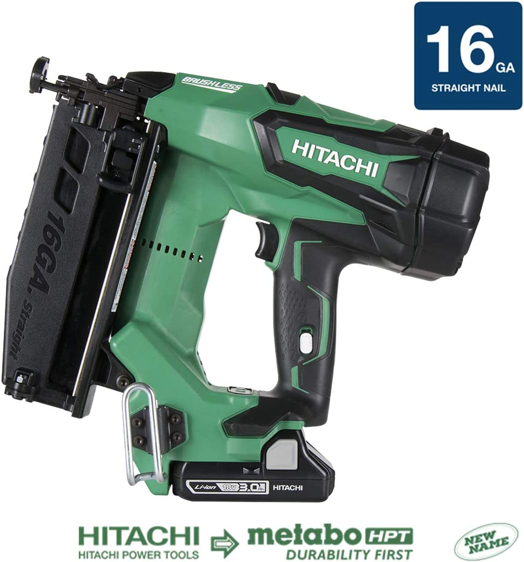 Hitachi 18V Cordless Straight Finish Nailer