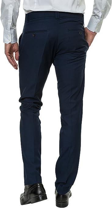 Antony morato Hombre Traje pantalón Slim Fit Business de Look Blu ...