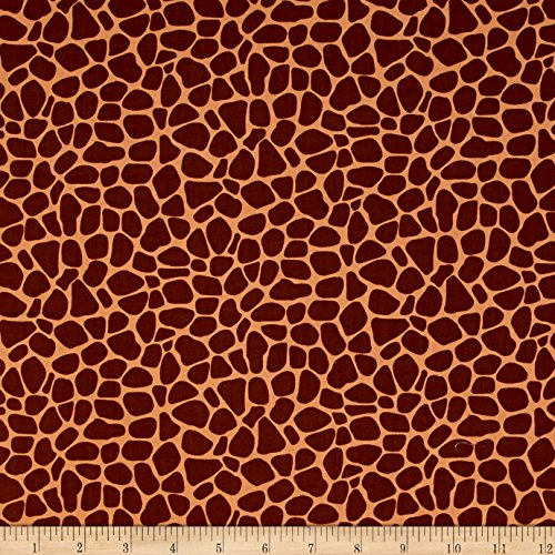 (Hamil Textiles Susybee Zoe The Giraffe Skin Brown Fabric by The Yard)