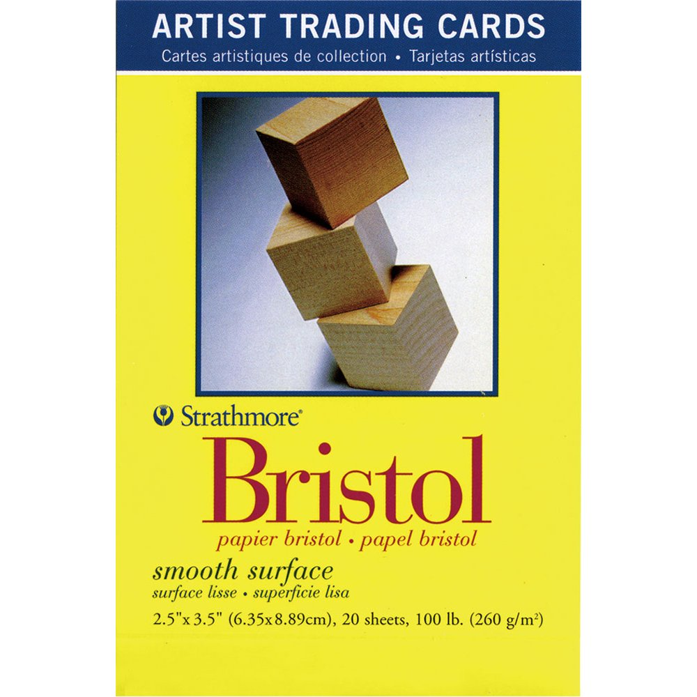 Strathmore 300 Series Bristol Artist Trading Cards, Smooth Surface, 20 Sheets by Strathmore (Image #1)
