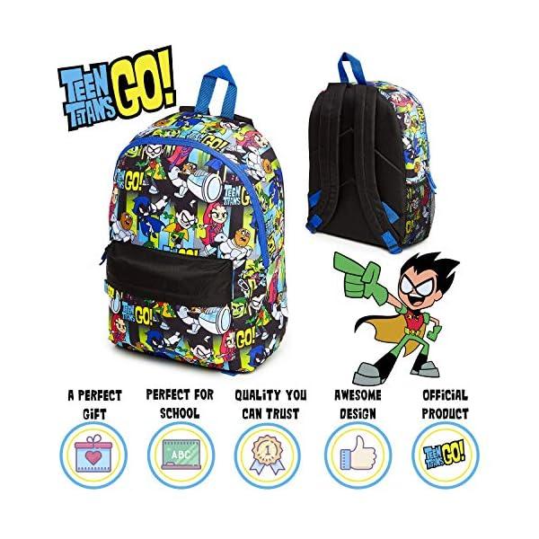 Teen Titans Go! Zaino Bambina, Zaini Scuola Elementare O Media Bambini, Borsa Grande Capacità Per Viaggio, Idea Regali… 2 spesavip