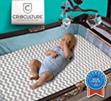 CC Pack N Play Mattress Pad Cover Protector, Fitted and Padded Baby Playard Mattress Pad for Pack and Play, Portable Mini Crib, Play Yard, Hypoallergenic Topper Pads, Washer, Dryer Safe