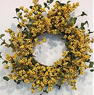 Yellow And Green Berry Front Door Wreath Spring Wreath Indoor Decorative  Accessory