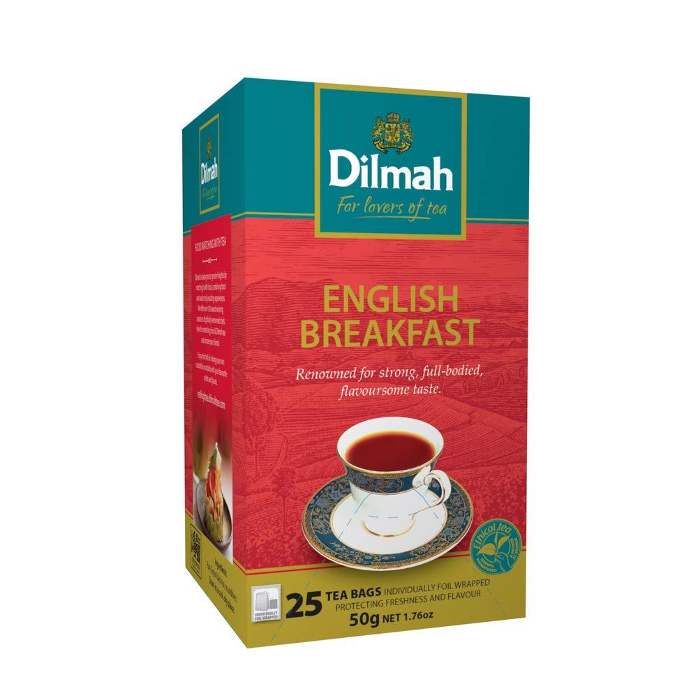 Dilmah English Breakfast Tea 25 Tea Bags Net Wt 50 G.