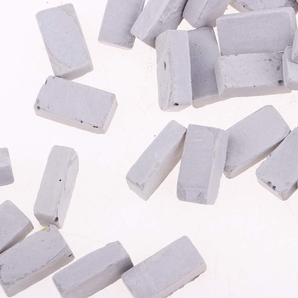 NON MagiDeal Miniatura Modelo de Ladrillo para Construcci/ón de Mesa de Arena 50 pcs Escala 1//35 Rojo 1.1x0.6cm