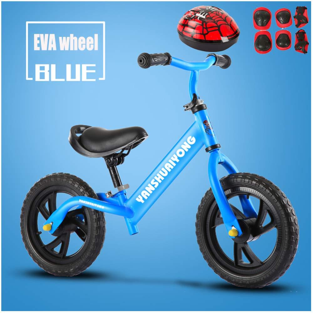 GSDZN - 12 Zoll Kinder Laufrad Lernlaufrad Balance Bike   Verstellbarer Lenker Und Sitzhöhe   Helm Und Schutzausrüstung   Luftrad Eva-Rad   2-6 Jahre   80-120 cm,C E