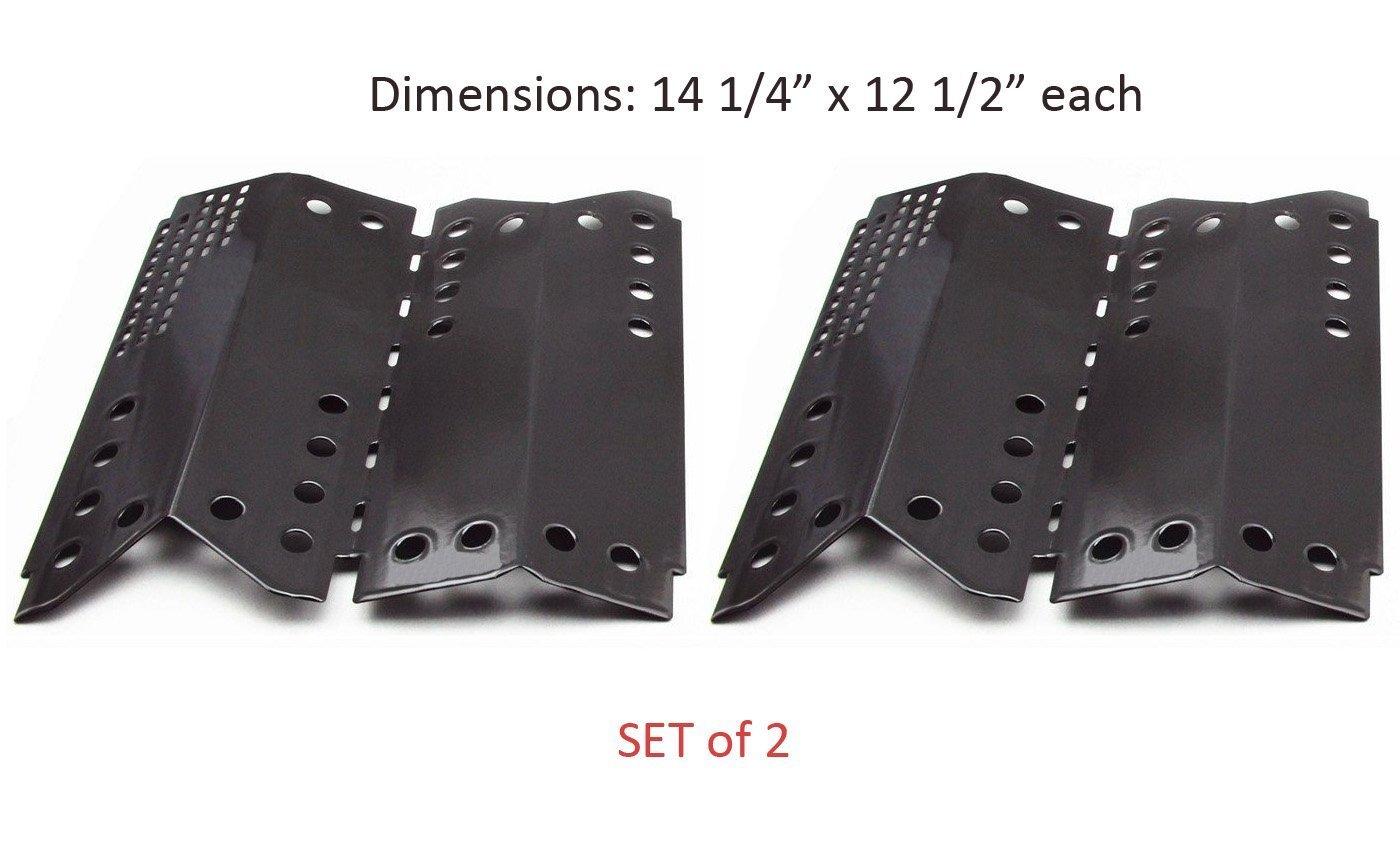 Zljiont (2-Pack) Porcelain Heat Plates, Heat Shield, Heat Tent, Vaporizor Bar Replacement for Gas Grill Model Stok SGP4032N, SGP4130N, SGP4330, SGP4330SB, SGP4331,SGP4330SB, SGP4331 (Dims: 14 1/4 X 25 total)