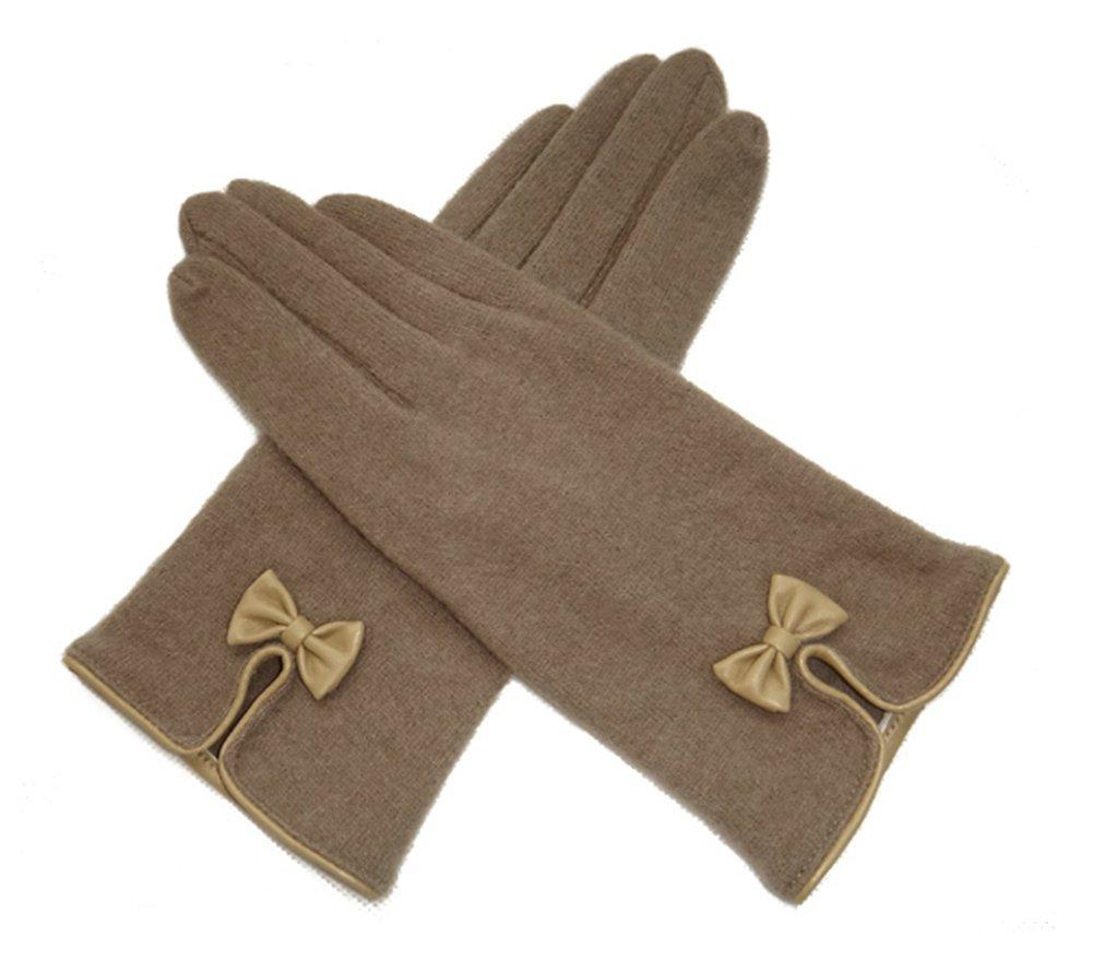 Klassische Mode elegante Frauen Frau Handschuhe Dame Girls einfarbig warme Winterhandschuhe Wollhandschuhe Exquisite Bowknot Schöne Handschuhe Vollfingerhandschuhe Outdoor Radfahren Sporthandschuhe Skihandschuhe dickere Handschuhe Weihnachtsgeschenke