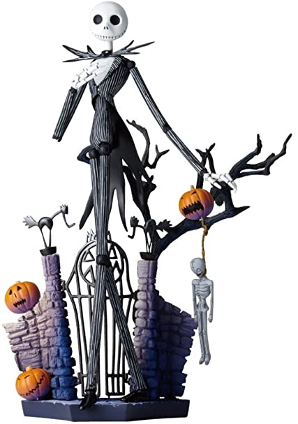 Christmas Skeleton.Revoltech Nightmare Before Christmas Jack Skeleton Non Scale Abs Pvc Painted Figure