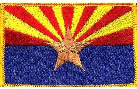 Arizona Personalized Badge Flag Embroidered  Patch