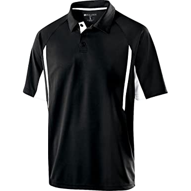 Holloway Sportswear Avenger Short-Sleeve Polo Shirt. 222530 Black / White S