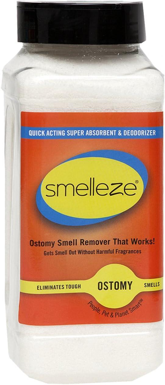 SMELLEZE Ostomy Bag Smell Removal Deodorizer: 2 lb. Granules Stop Colostomy Stench