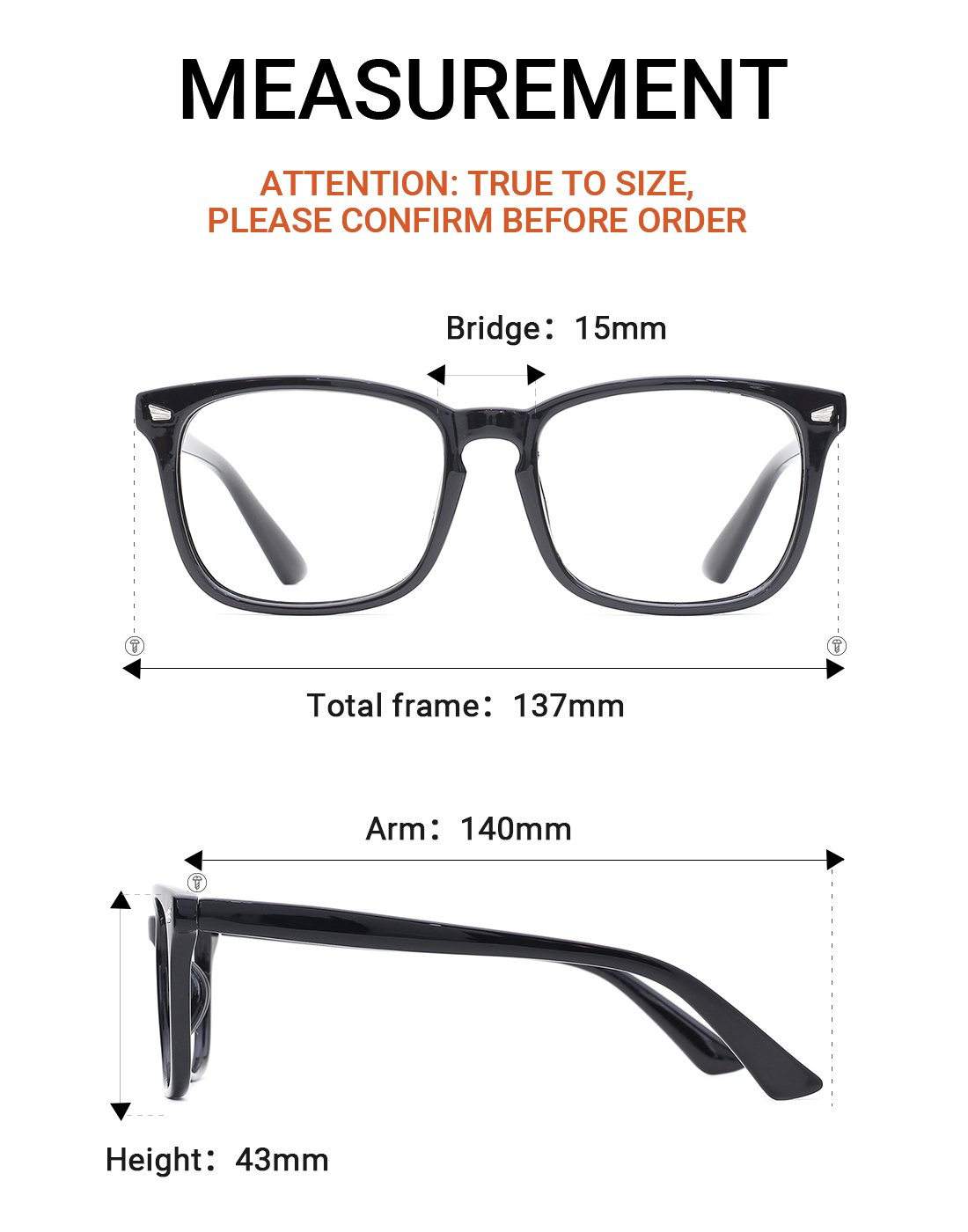 1f42803bad TIJN Unisex Non-Prescription Eyeglasses Glasses Clear Lens Eyewear Black  Square. Yêu thích
