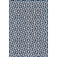 Momeni Rugs BAJA0BAJ10NVY2346, Baja Collection Contemporary Indoor & Outdoor Area Rug, Easy to Clean, UV protected & Fade Resistant, 2 3 x 4 6, Navy