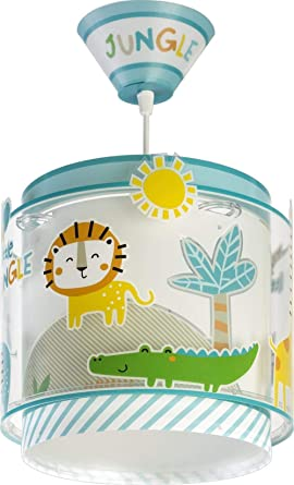 Dalber Lámpara Infantil de Techo My Little Animales Jungla, 60 W, Multicolor