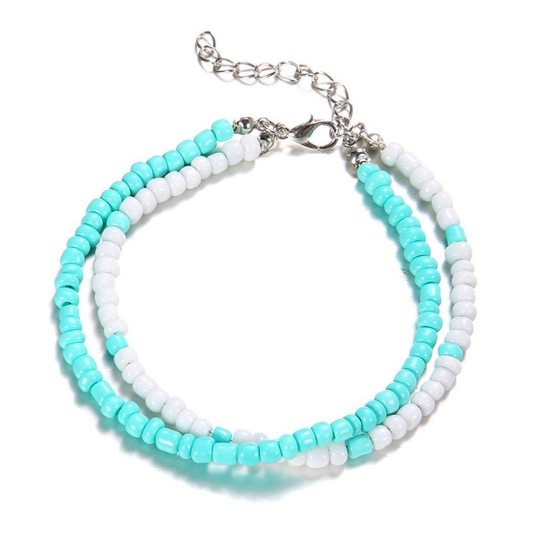 Paolian Créatif Accessoires!! Femme Bracelets de Cheville Bohême Perlé Mode Bracelet de Pied 123 SB-111