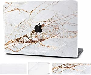 Timocy Hard Case Compatible with MacBook Retina 12 Inch – Marble Laptop Case with Keyboard Cover, Screen Protector, Touch Pads Sticker – Enhanced Protection – Gorgeous Designs, Abstract Slash Marble