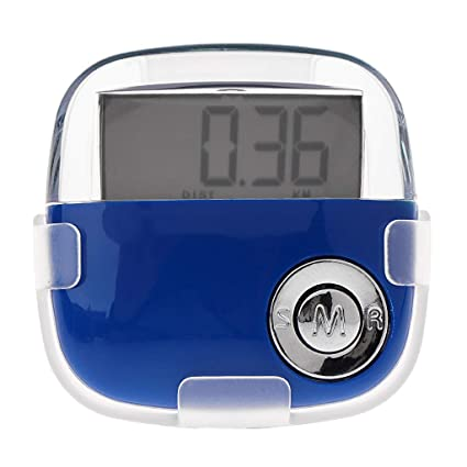 Yamalans LCD Pedometer,Track Steps and Miles,Calories Burned Digital Pedometer Clip On