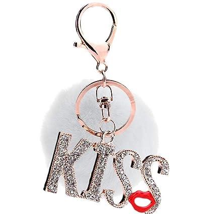 Outflower Llavero de Mujer, Accesorios de Ropa Pompones Kiss ...