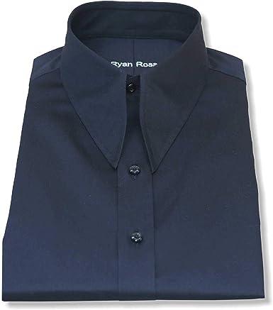 WhitePilotShirts Hombre Punta de Lanza Vintage Cuello de Camisa Algodón Negro 1930s WWII Corte Clásico Hombre Nuevo de 1930 Años 1940: Amazon.es: Ropa y accesorios