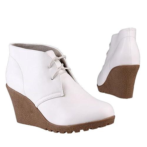 Botines blancos de mujer 41 (4469B): Amazon.es: Zapatos y ...