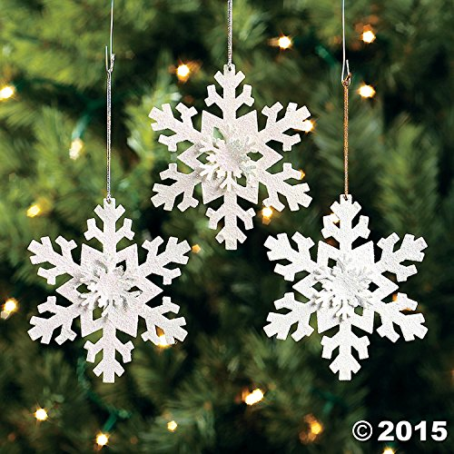 12 Metal Irridescent SNOWFLAKE Christmas Tree Ornaments/HOLIDAY DECORATIONS/DECOR/DOZEN (Metal Snowflake Christmas Ornament)