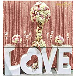 4FTx7FT Sequin backdrops,Blush Sequin Photo Booth Backdrop, Party backdrops, Wedding backdrops, Sparkling backdrops, Christmas Decoration (Blush)