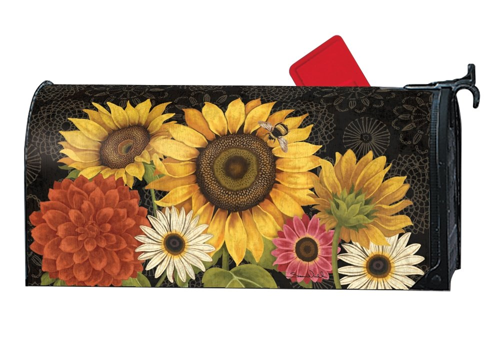 Studio M Fall Outdoor Mailbox Cover MailWrap - French Flowers