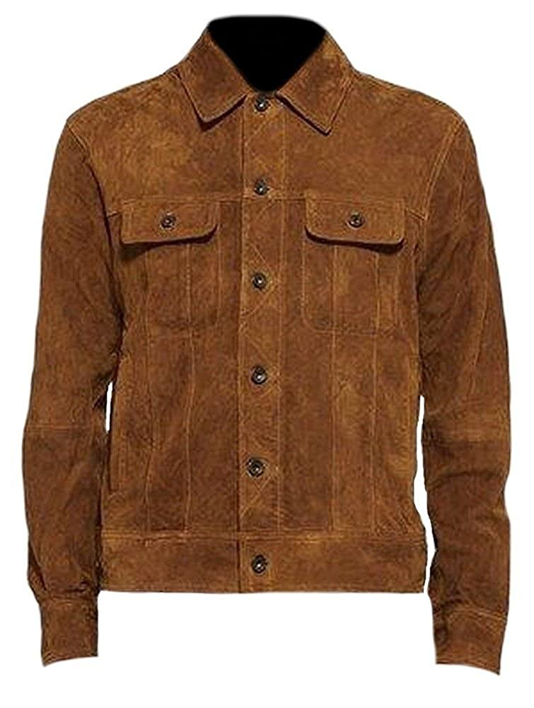 Suede Leather Brown Womens Cowgirl Western Fringed Suede Leather Jacket Brown
