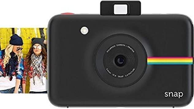 Oferta amazon: Polaroid Snap - Cámara digital instantánea, tecnología de impresión Zink Zero Ink, 10 Mp, Bluetooth, micro SD, fotos de 5 x 7.6 cm, negro