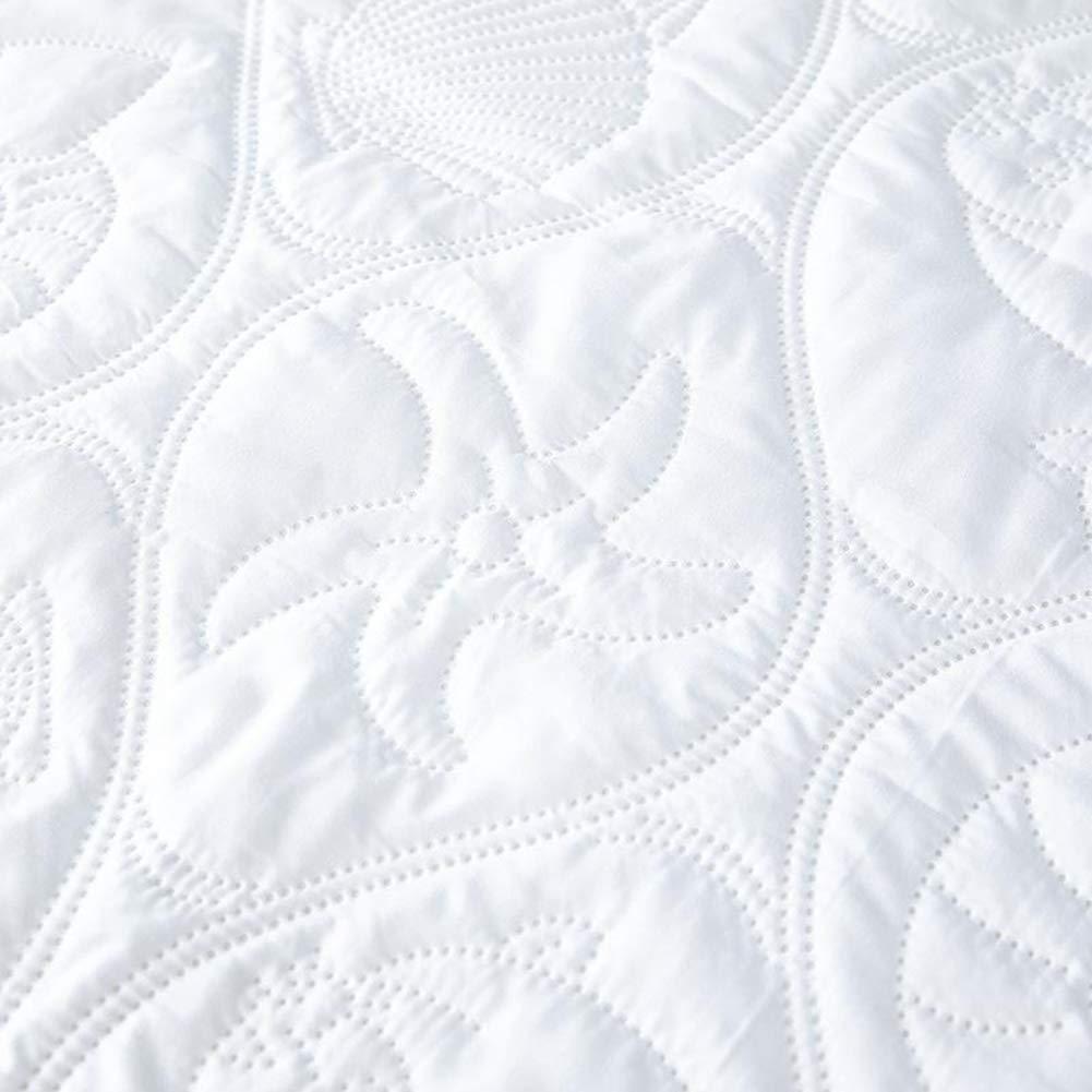39x75x18in MISSMAO/_FASHION2019 Coprimaterasso Impermeabile,Anti Allergia,Non Rumoroso,Anti-Polvere Coprimaterasso Goffratura Traspirante Assorbente Materiale Misto Cotone Bianco1 Twin