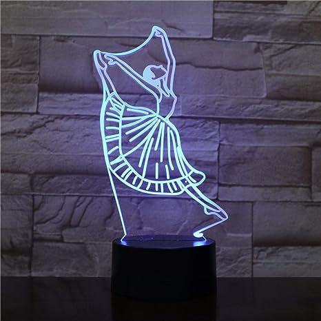 Ballet Serie 3D Luz De La Noche Colorido Cambio De Color