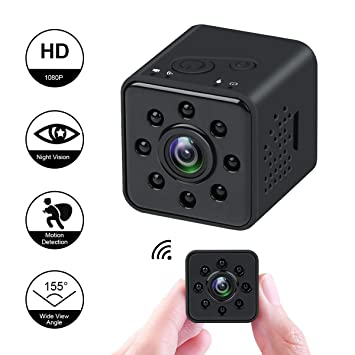Mini cámara 1080P HD Videocámara espía Visión Nocturna Cámara CMOS 155 Grados Soporte de cámara Oculta a Prueba de Agua WiFi móvil Detección de Movimiento ...