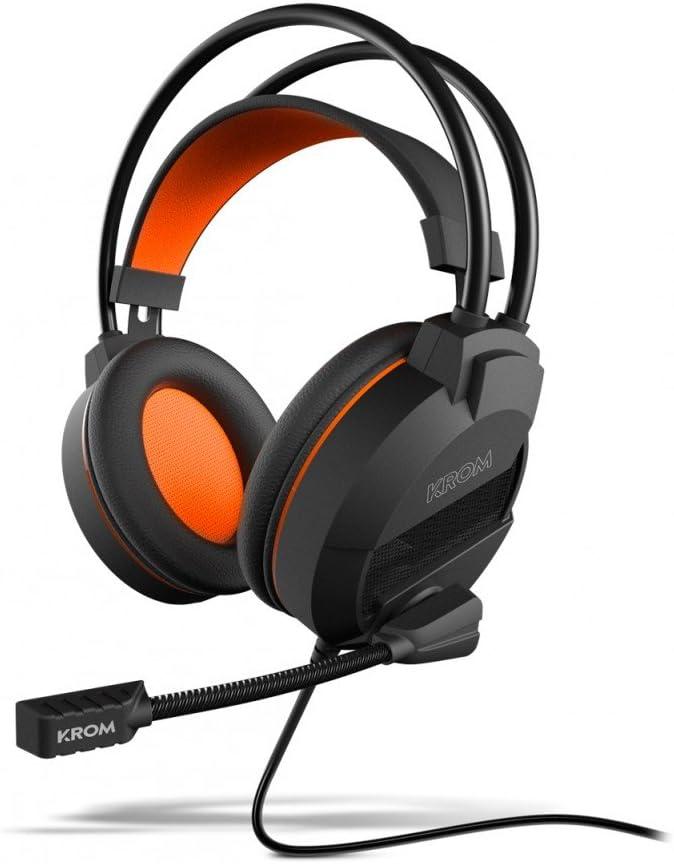 KROM Khami - NXKROMKHAMI - Auriculares Gaming, Estéreo, Color Negro