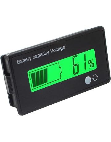 Monitor con pantalla LEC verde de 12 V multifuncional para medir la capacidad de la batería