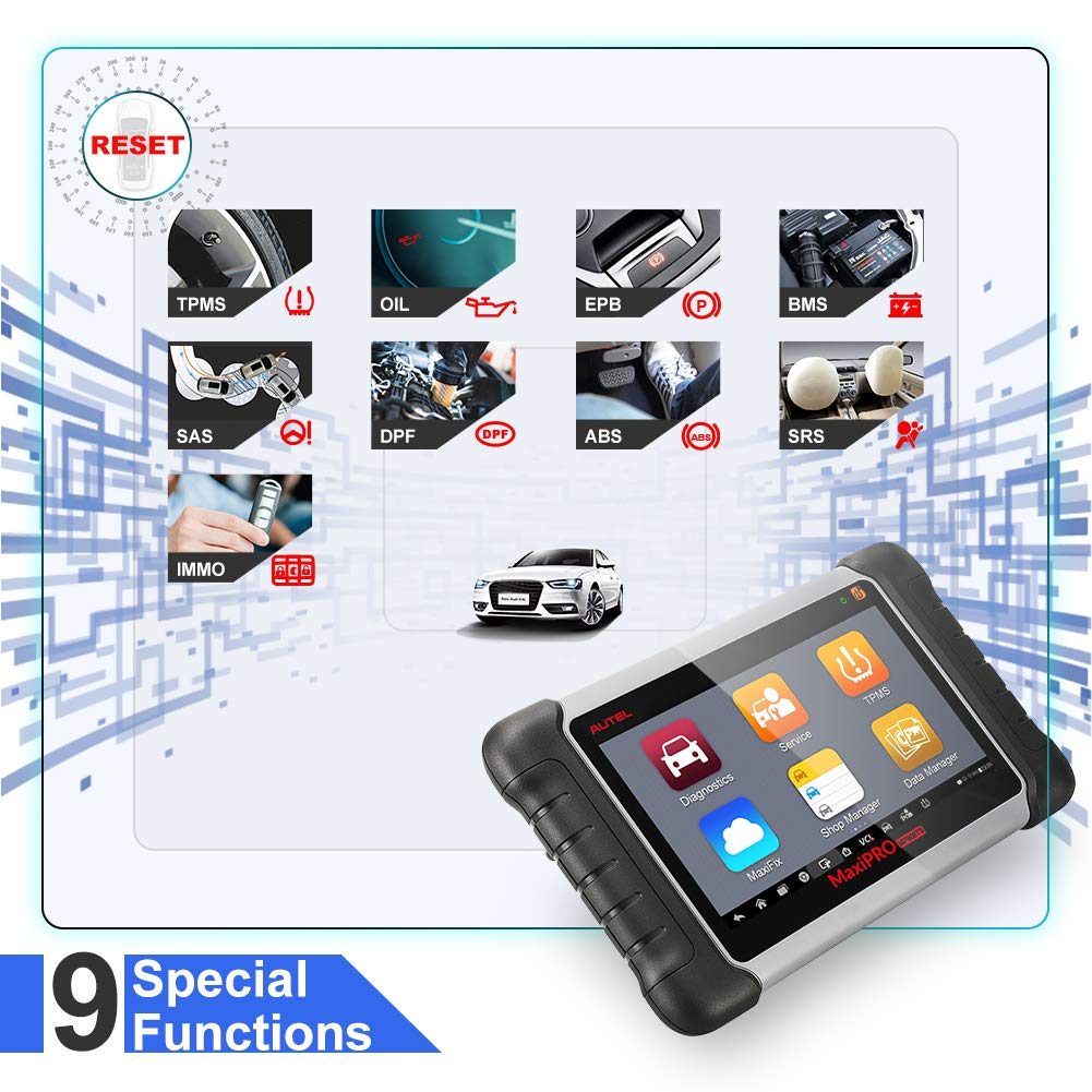 Autel Maxipro Mp808ts Diagnostic Scanner With Tpms Key For Nissan Remote Control Circuit Board 315mhz Best Qualityboard Service Functions And Wifi Bluetooth Equipped Tablet Prime Version Of Maxisys Ms906ts