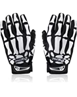 iParaAiluRy F7507 Cycling Bike Bicycle Anti-Slip Breathable Hand Skeleton Pattern Full-Finger Gloves Size