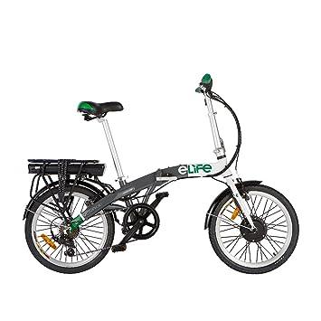 Bicicleta eléctrica E-Life Voyage 6SP, de 36 V y 250 W, rueda de 20 ...