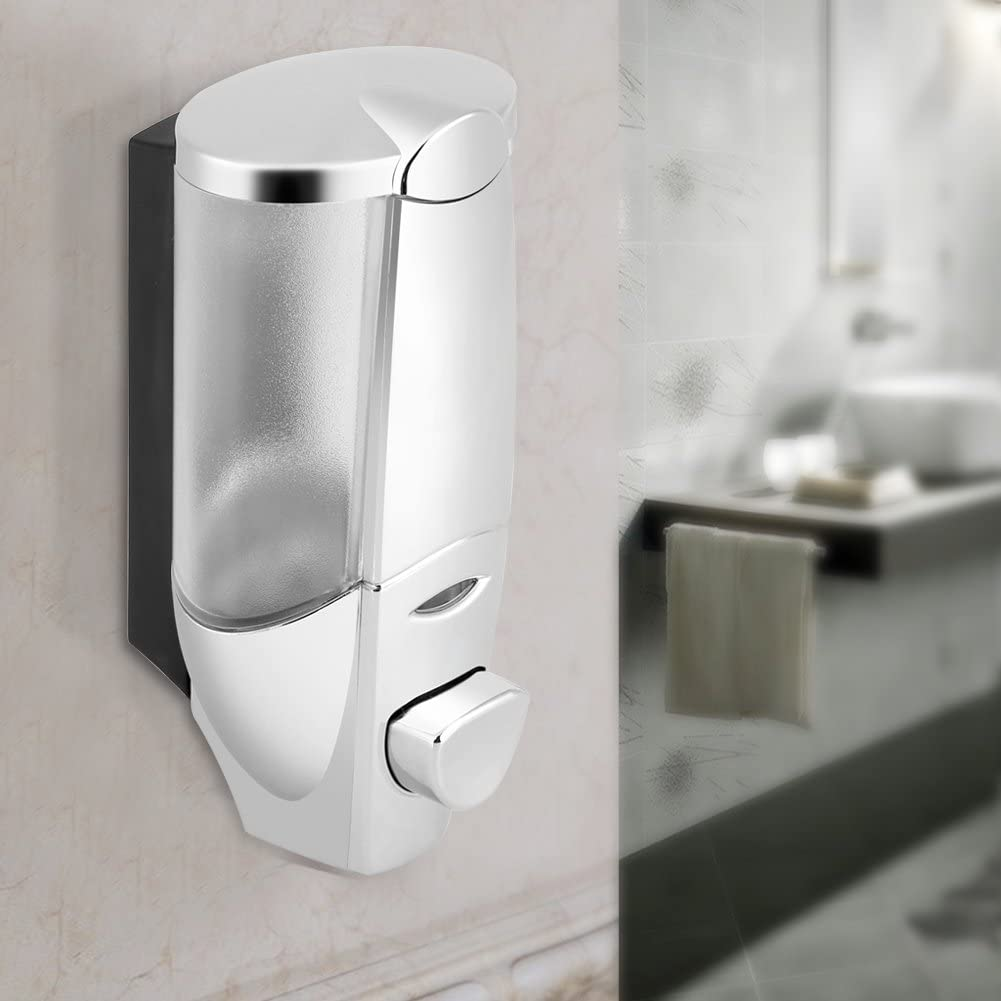 Wall Soap Dispenser Pump with Electroplated Finish Durable Perfect to Use at Bathrooms and Kitchens Wall Soap Dispenser