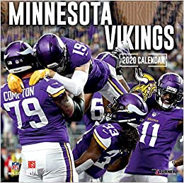Mn Vikings Schedule 2020.Minnesota Vikings 2020 12x12 Team Wall Calendar Lang