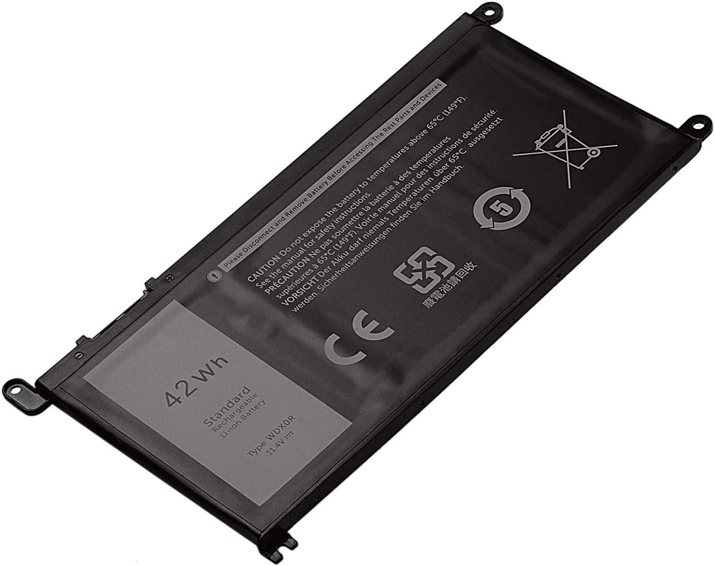 OMCreate Battery WDX0R Compatible with Dell Inspiron 15 5565 5567 5568 5578 7560 7570 7579 7569 13 5368 5378 7368 7378 17 5765 5767 5770 Fits 3CRH3 T2JX4 FC92N CYMGM