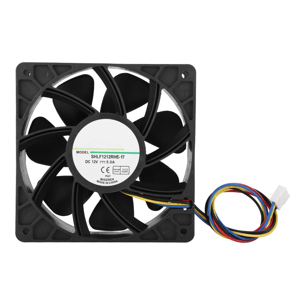 fosa SHLF1212RHE-17 DC12V 5.0A 7000-7500RPM 280.38CFM Cooling Fan for QFR1212GHE -9D89, 12CM Cooling Fan Low Noise with Double Ball Bearing by fosa