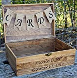Arts & Crafts : Rustic Wooden Card Box - Rustic Wedding Card Box - Rustic Wedding Decor - Large Wedding Card Holder - Card Box - Wedding Card Box