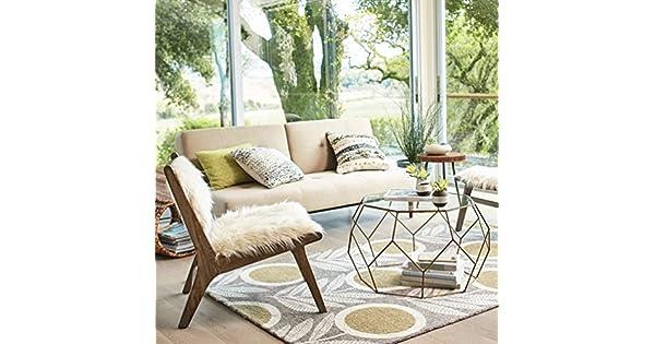 Amazon.com: GLJ - Mesa de café pequeña, redonda, pequeña, de ...